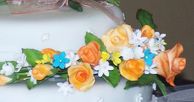 洋菓子教室フランボワーズ「Wedding Cake Individual Lesson」コースのケーキ画像