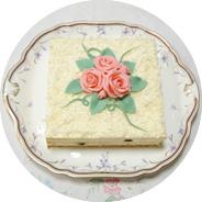 洋菓子教室フランボワーズ「コンチネンタルケーキコース」でガトー・オ・ショコラ・ブランを教えています。